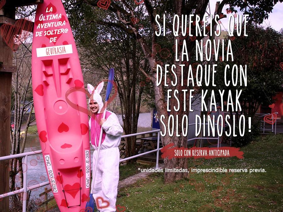 Kayak de corazones para el descenso del Sella